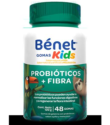 Bénet gomas kids probióticos y fibra