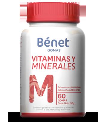 Bénet gomas vitaminas y minerales