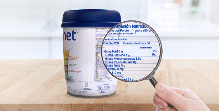 ¿Cómo leer la tabla de información nutricional?